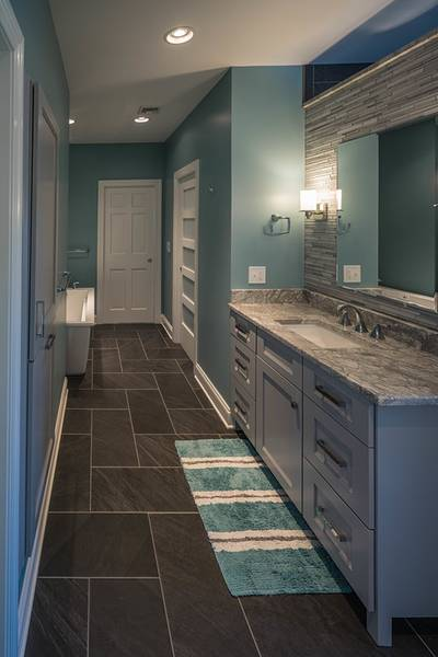 Gray Bathroom Make Over