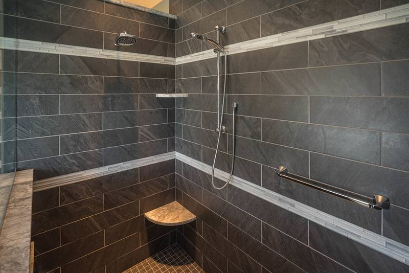 Gray Tiled Shower Design