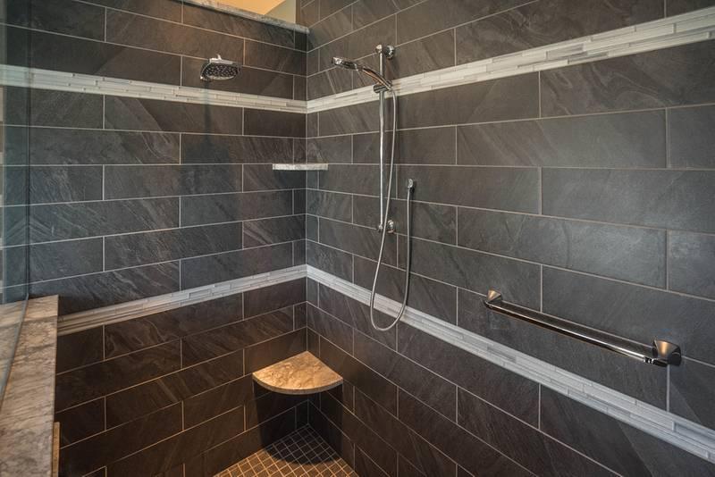 Gray Tiled Shower Design
