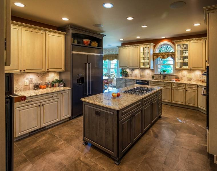 Cherry Island with Slate Gray Granite Top