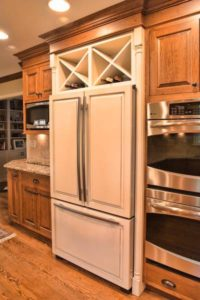 Custom Cabinetry Fridge Door Wine Racks