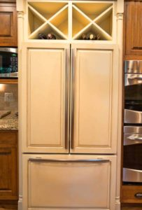 Custom Refrigerator Wine Racks
