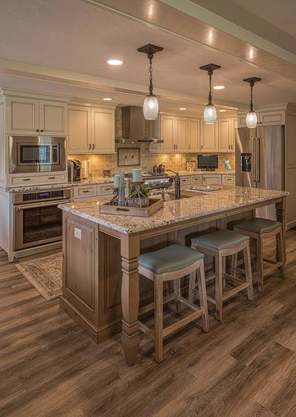 Custom Knotty Alder Cabinetry Island