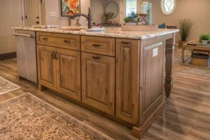 Kitchen Island In Knotty Alder