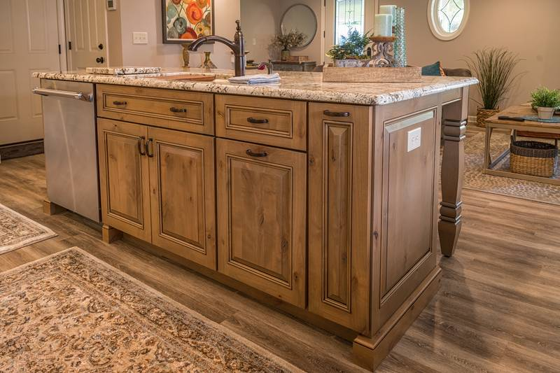 Knotty Alder Kitchen Island