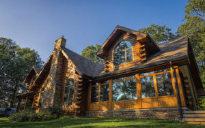 Exterior Log Home Day Shot