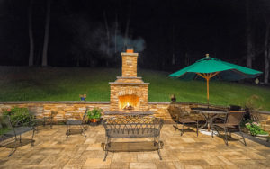 Outdoor Living Space Fireplace