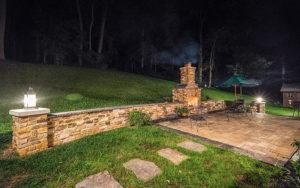 Log Home Outdoor Patio