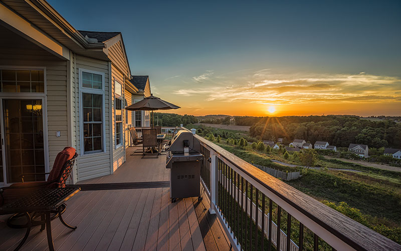 Deck with View of Sunset