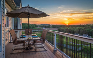 Deck Outdoor Living Space Sunset View