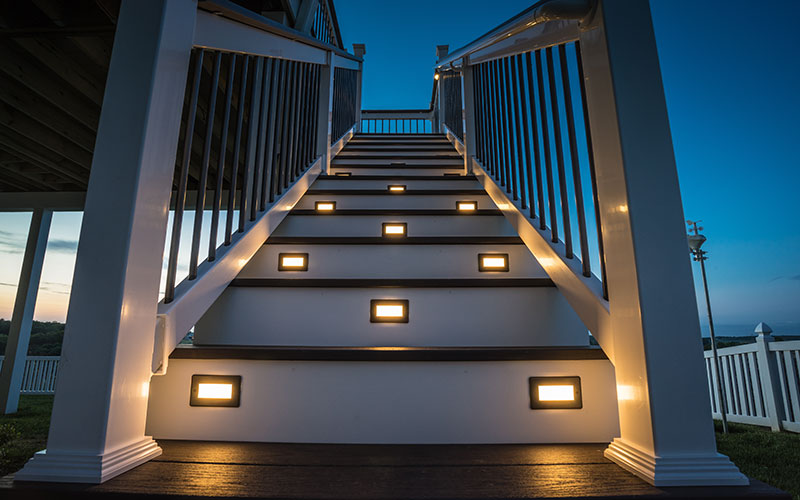 Decking Staircase with Lights