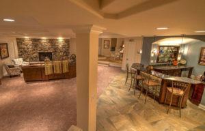 Custom Basement Living Space