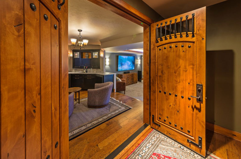 Custom Wooden Basement Doors